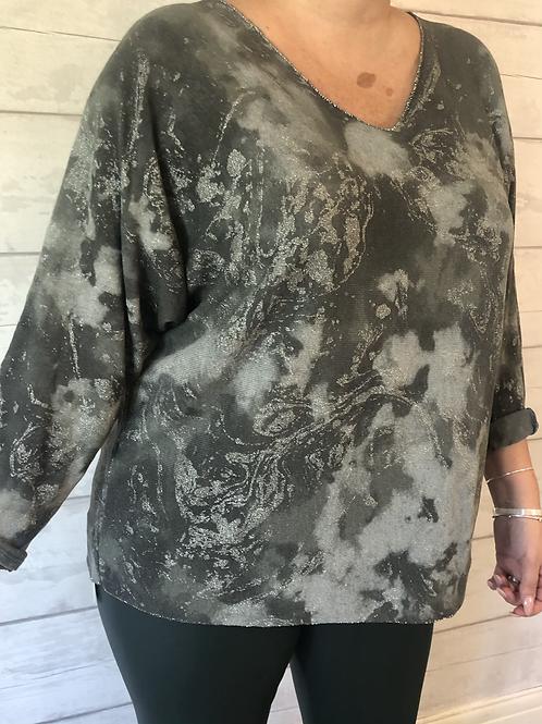 Khaki pattern sweater