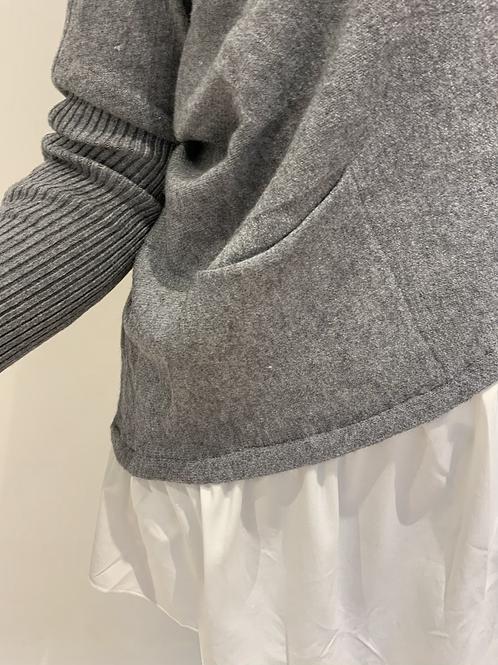 Shirt jumper in grey