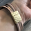 Thumbnail: Multilayer cuff bracelet in nude