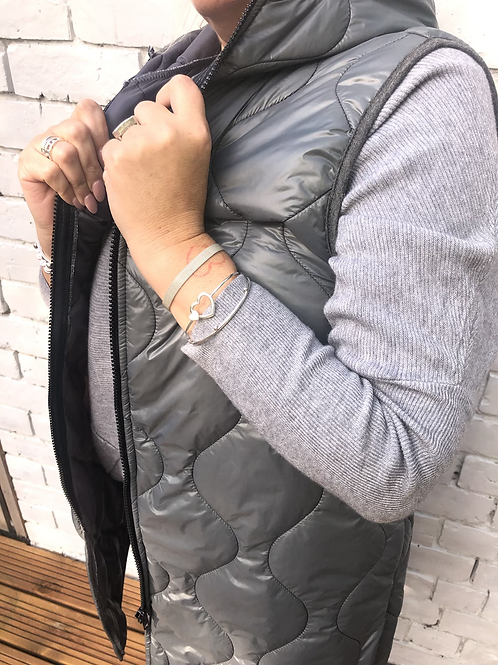 Grey quilted gillet