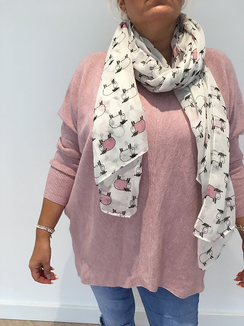 Little pink sheep scarf