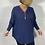 Thumbnail: Blue zip neck jumper