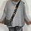 Thumbnail: Grey leather bag with grey leopard strap