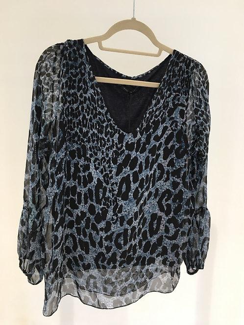 Silky leopard blouse