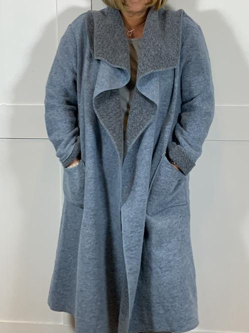 Blue woolly jacket