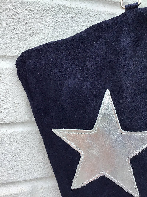 'Make me a star' suede bag