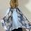 Thumbnail: Blue rose print scarf