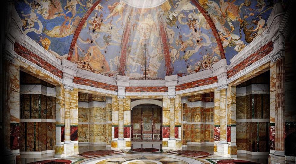 La Domus Aurea ou Maison dorée est un immense palais que Néron a fait construire en 64 après Jésus-Christ après l'incendie de Rome.