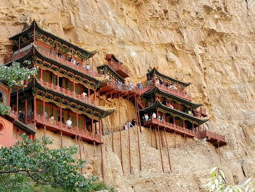 Le monastère de Xuankong - Suspendu à 50 m de hauteur