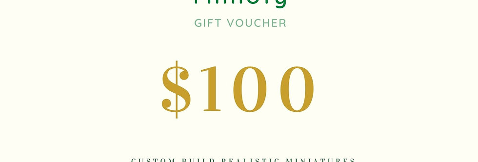 USD 100 Miniature Gift Coupon