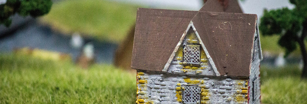 Grassland Cottage by the River - Miniature Model Diorama