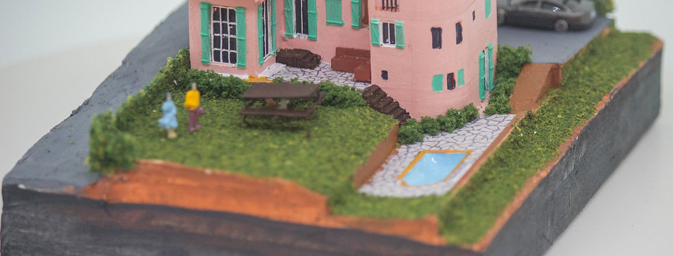 Villa in France  - Miniature Model Diorama