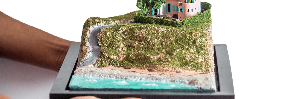 Villa Antoline Nice, France  - Miniature Model Diorama