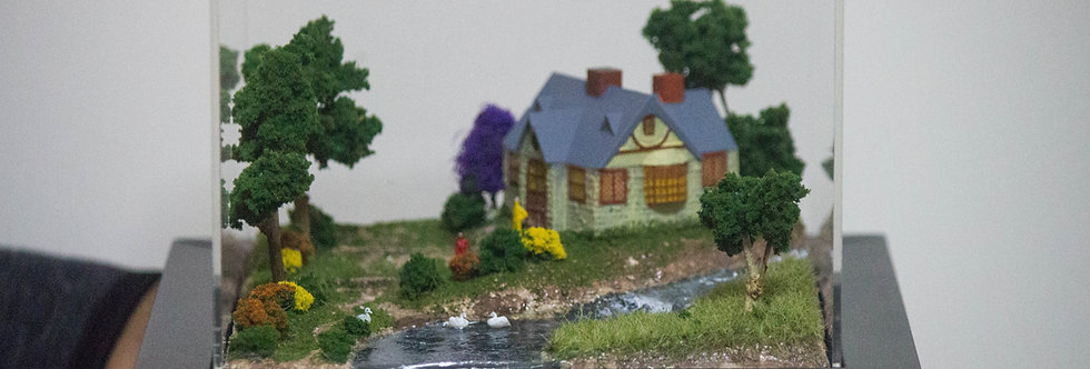 Utopian Cottage, Miniature Model Diorama