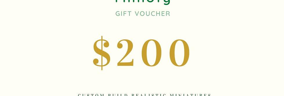 USD 200 Miniature Gift Coupon