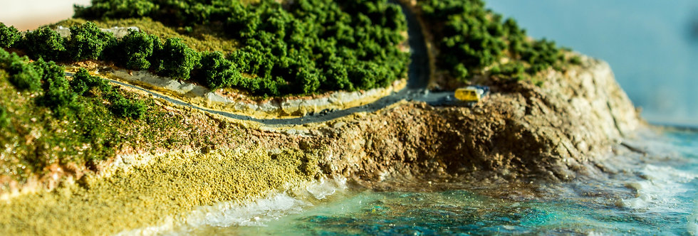 """Aquamarine"" -Yallingup, near Perth, Australia - Miniature Model Diorama"
