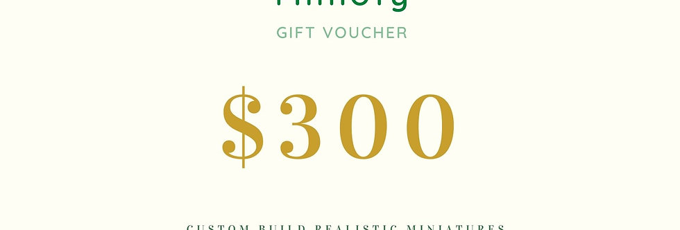 USD 300 Miniature Gift Coupon