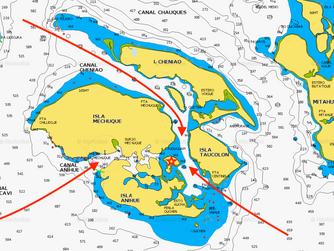 Carta Nautica accesos a Marina Puduhuapi