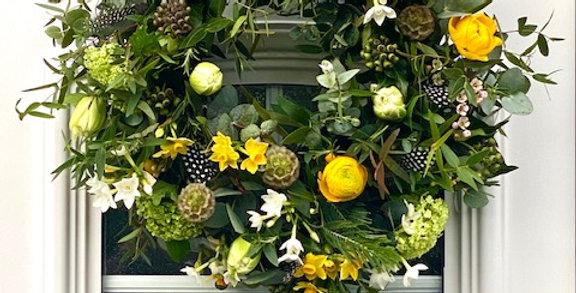 DIY Yellow Spring Wreath Kit