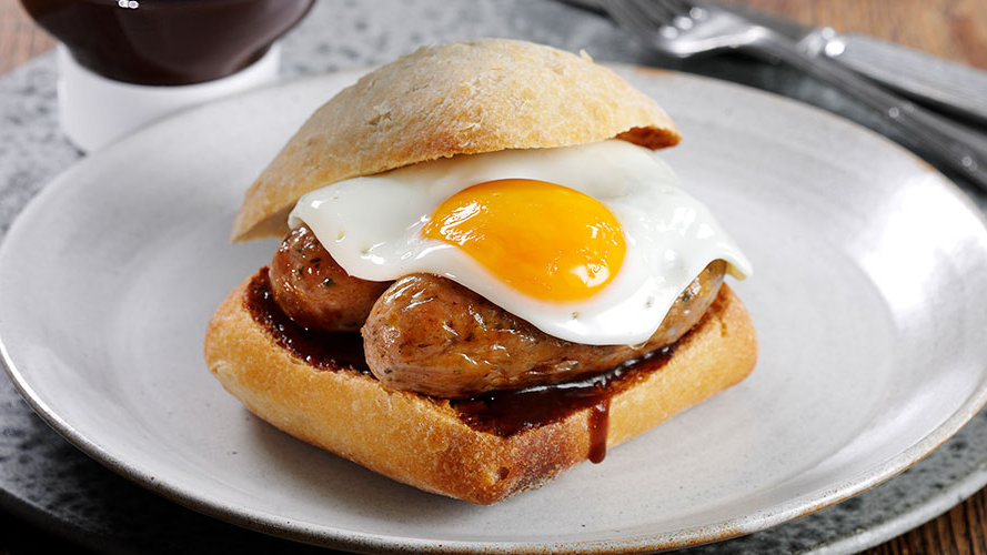 Breakfast at Hornington Manor - Sausage & Egg Sandwich