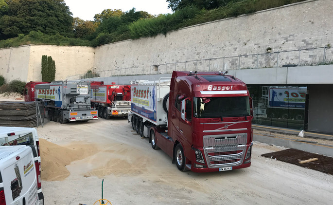 Chantier 3 camions