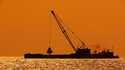 sea-sunset-construction-vessel-vehicle-e