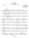 Handel Bourree Water Music bassoon trio bassoon music 3 bassoons