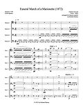 Gounod Funeral March of a Marionette bassoon quartet 4 bassoons bassoon music