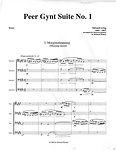 Edvard Grieg Peer Gynt Suite bassoon quartet 4 bassoons bassoon music