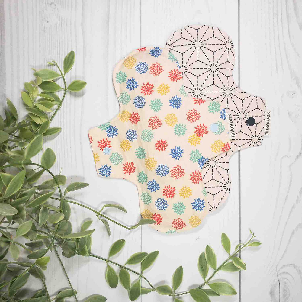 The Tinkerbox reusable feminine cloth pads and liners