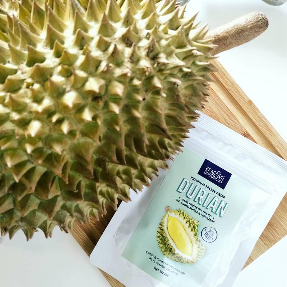 Gracious Goodness freeze-dried durian
