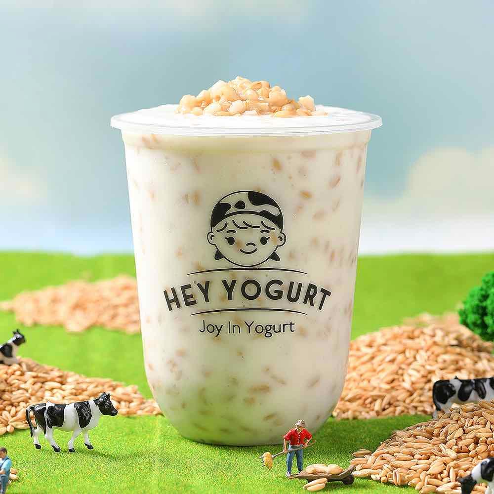 healthy oatmeal yogurt drink