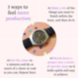 3 ways to feel more productive