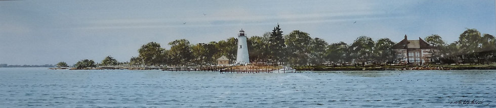Concord Point Light by Keith Whitelock