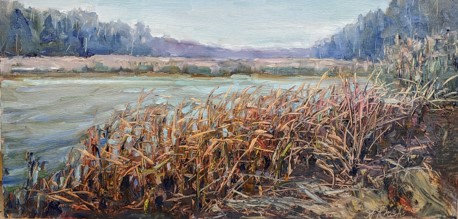 Fall Reeds by Ann Crostic