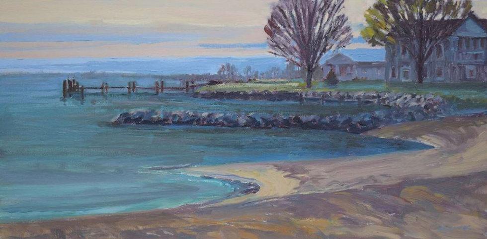 Rock Hall Beach by Jim Rehak