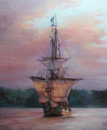 Kalmar Nyckel Sunset by Lani Browning