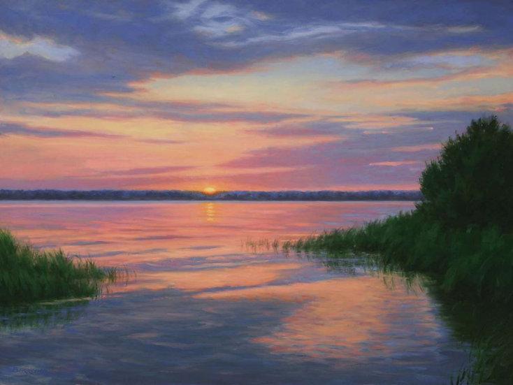 Sunrise on the Rappahannock by Joseph Burrough