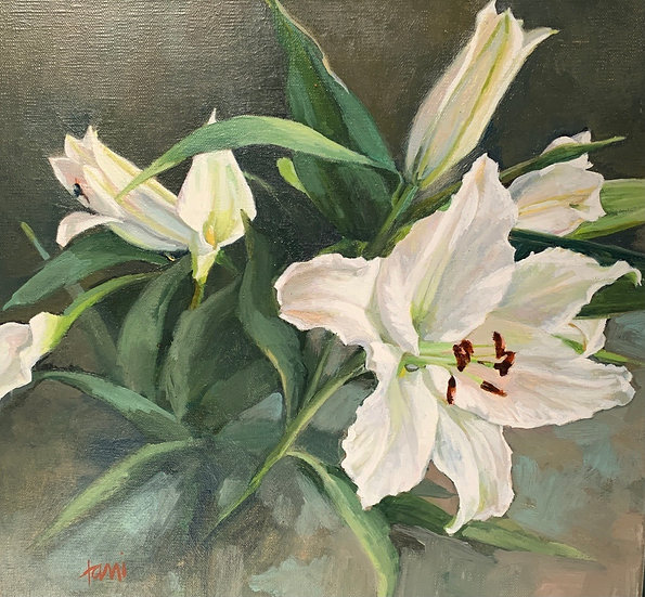 Casablanca Lilies by Lani Browning