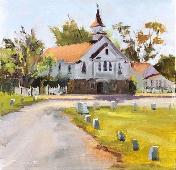 Church on Smith Island by Julie Riker