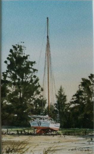 Boatyard Skipjack by Keith Whitelock