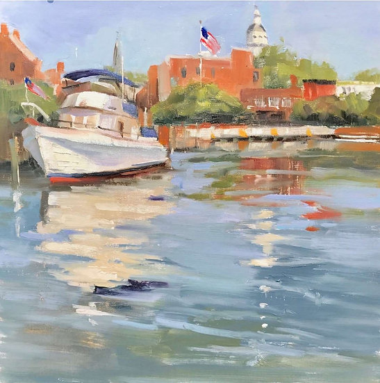 Docked in Annapolis by Julie Riker