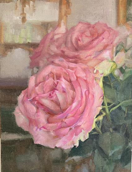 Pink Roses by Lani Browning
