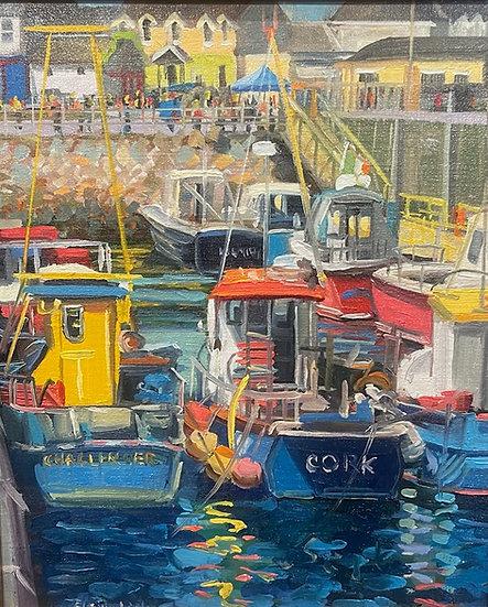 Blue Boats at Kilmore Quay by  Elaine Lisle