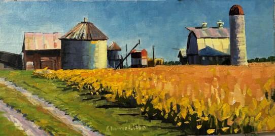 October Barns by Elaine Lisle