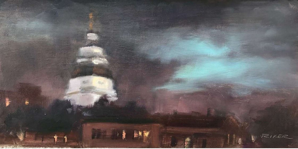 Rainy Night in Annapolis by Julie Riker