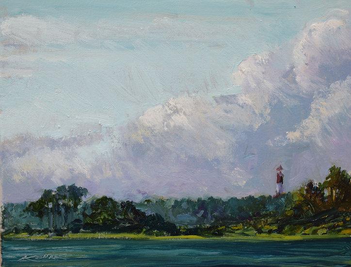 Lighthouse Glimpse by Jim Rehak