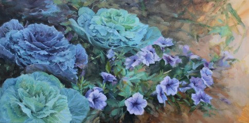 Cabbages and Petunias by Lani Browning
