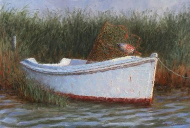 Crabber's Old Skiff on the Chesapeake Bay by Joseph Burrough