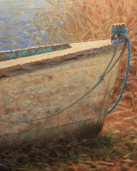 Old Wood Boat Bows Out by Joseph Burrough